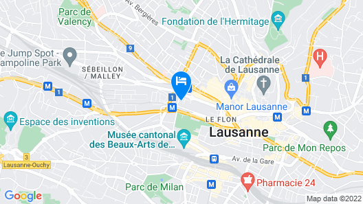 Moxy Lausanne City Map