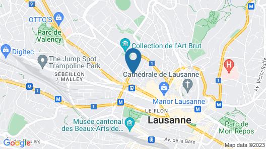ibis Lausanne Centre Map
