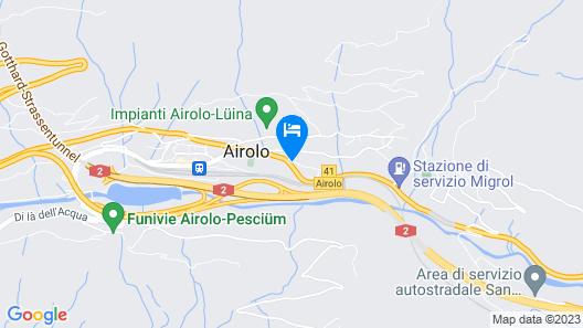 Chalet Cuore delle Alpi Map