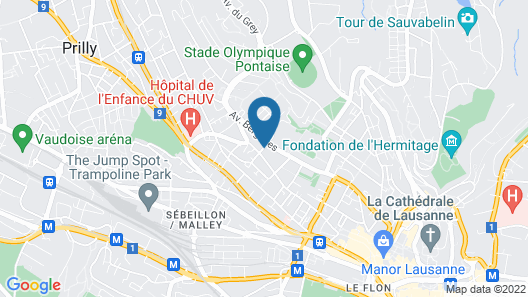 Tulip Inn Lausanne Beaulieu Map