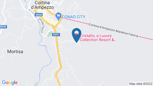 Cristallo, a Luxury Collection Resort & Spa Map