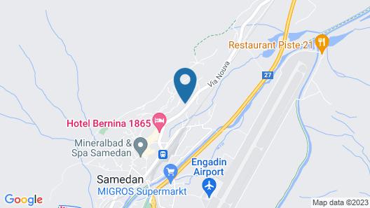 Lovely apt in Samedan, Only 8 min to St Moritz Map
