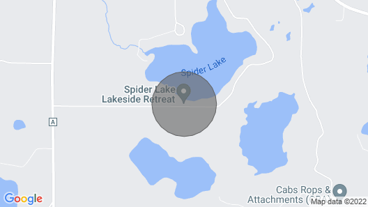 Spacious Cabin on Spider Lake in Iron River, WI Map