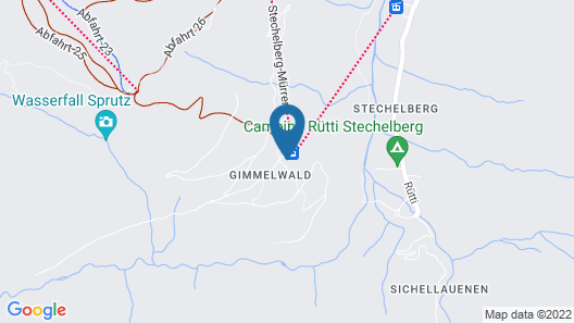 Mountain Hostel Gimmelwald Map