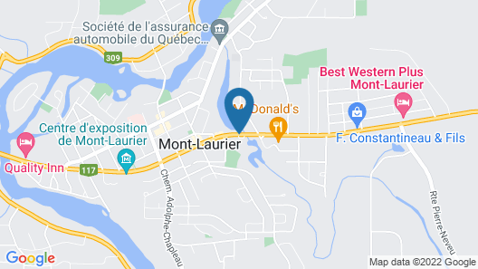 Comfort Inn Mont Laurier Map