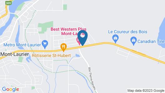 Best Western Plus Mont-Laurier Map