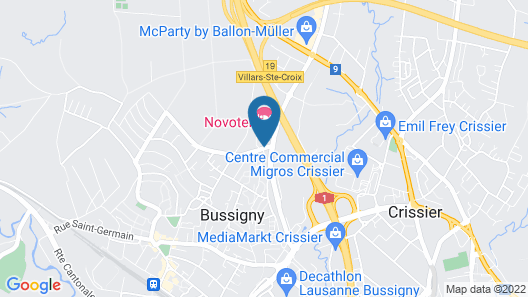 Novotel Lausanne Bussigny Map