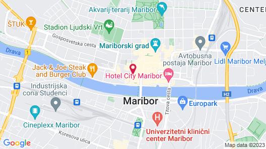 Hotel Maribor, City apartments Map