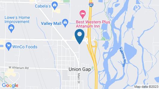Super 8 by Wyndham Union Gap Yakima Area Map