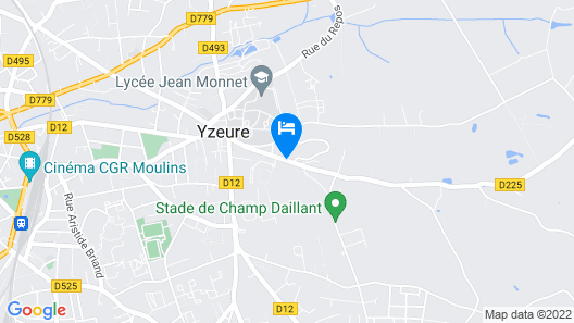 ZENAO Appart'hotel Moulins-Yzeure Map