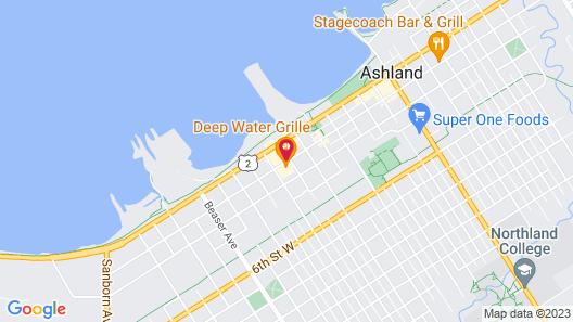 Cobblestone Inn & Suites - Ashland Map