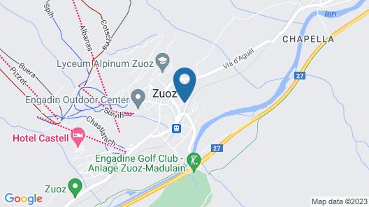 Gästehaus Convict Zuoz Map