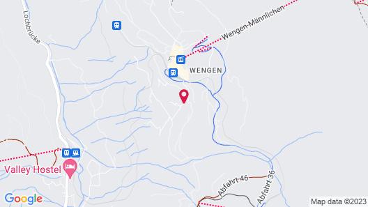 Hotel Alpenrose Wengen Map