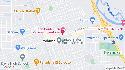 Hilton Garden Inn Yakima Downtown Map