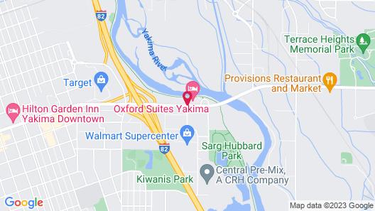 Oxford Suites Yakima Map