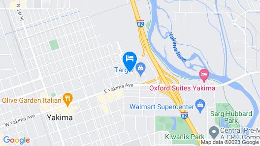 Motel 6 Yakima, WA - Downtown Map