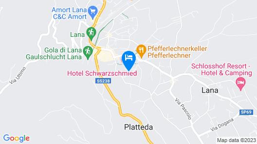 Hotel Schwarzschmied Map