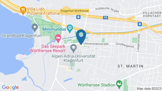 AllYouNeed Hotel Klagenfurt Map