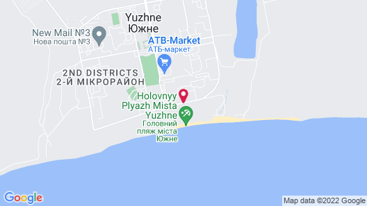 WellOtel Yuzhne Map