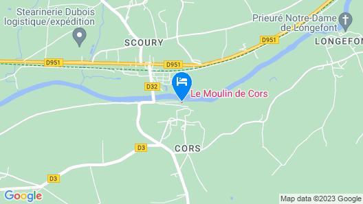 Le Moulin de Cors Map