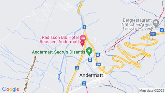 Andermatt Alpine Apartments Map