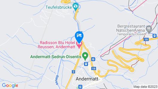 Radisson Blu Hotel Reussen, Andermatt Map