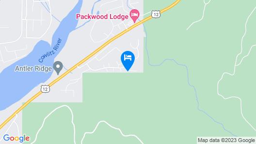 Luxurious Custom Cabin Near Mt. Rainier Park & White Pass Ski Area Map