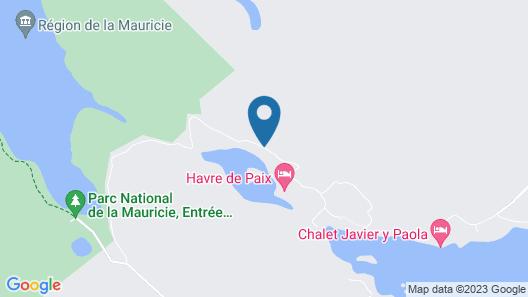 Chalet du Lac Canard Map