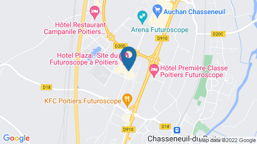 Hôtel Plaza - Site du Futuroscope Map