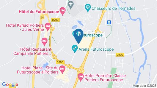 The Originals City, Hôtel Alteora, Poitiers Site du Futuroscope (Inter-Hotel) Map