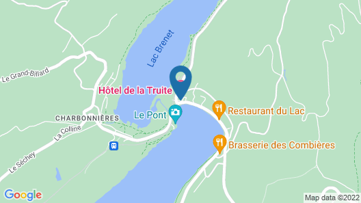 Hôtel de la Truite, Vallée de Joux Map