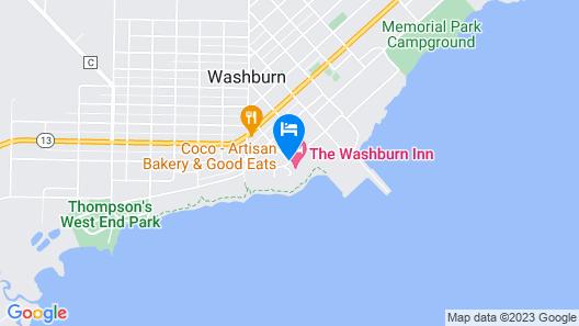The Washburn Inn - On the Lake Map