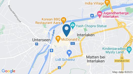 Metropole Swiss Quality Interlaken Hotel Map