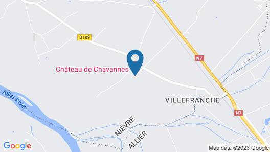 Chateau de Chavannes Map