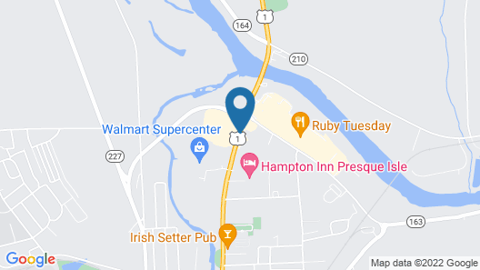 Hampton Inn Presque Isle Maine Map