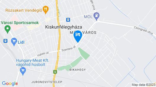 Malom Hotel Map