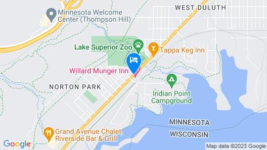 The Willard Munger Inn Map