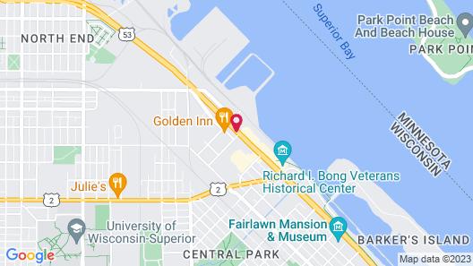 Hampton Inn Superior Duluth, WI Map