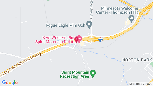 Best Western Plus Spirit Mountain Duluth Map