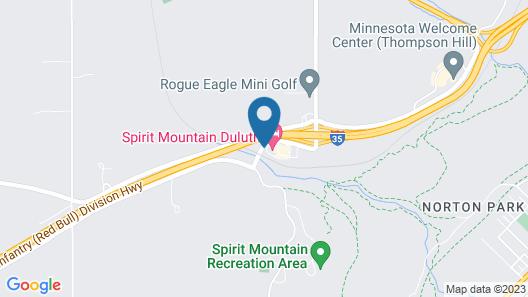 Best Western Plus Spirit Mountain Duluth Map
