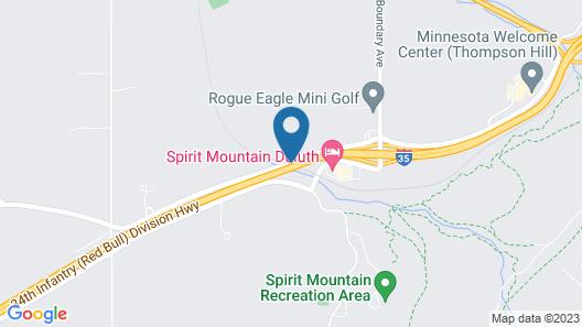 Americas Best Value Inn Duluth Spirit Mountain Inn Map