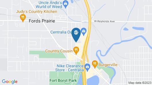 Motel 6 Centralia, WA Map