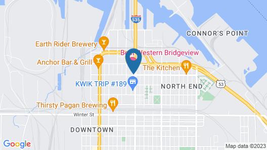 Best Western Bridgeview Hotel Map