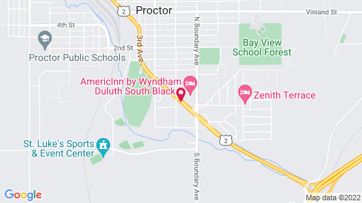 AmericInn by Wyndham Duluth South Black Woods Event Center Map