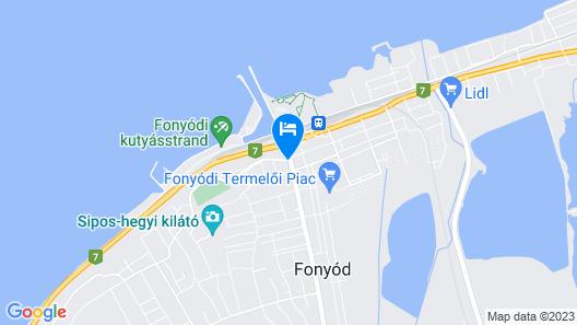 Hotel Balaton Fonyód Map