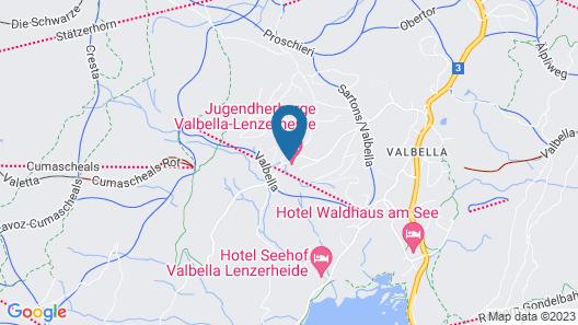 Youth Hostel Valbella Map