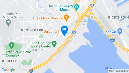 Motel 6 Duluth, MN Map