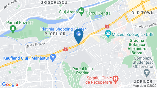Cluj Lux Apartments Platinia Map