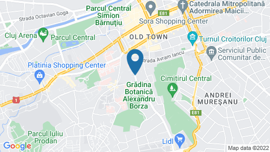 Pensiunea Vidalis Map