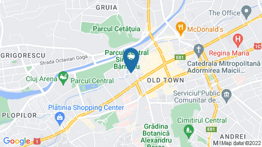 DoubleTree by Hilton Hotel Cluj - City Plaza Map
